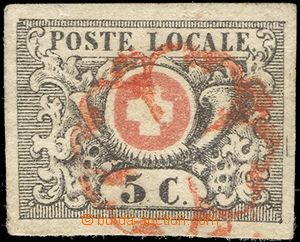 63980 - 1850 Mi.2a, Postkreis GENEVA, wide margins, almost complete
