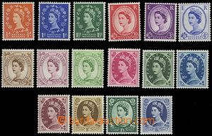 63997 - 1955 Mi.282-298, postage stmp set, 16 pcs of, missing 1 chea
