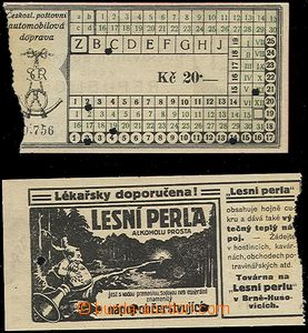 64002 - 1920 sestava 2ks jízdenek Čsl. poštovní automobilové dopravy