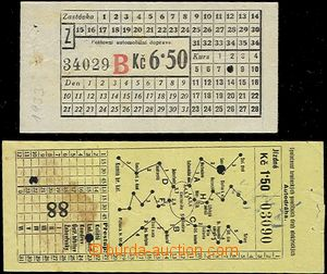 64004 - 1933 sestava 2ks jízdenek, jízdenka 1,50Kč na autodráhu Spol