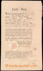 64046 - 1813 Lauf-Paß, propouštěcí list z armády, hezká suchá pečeť