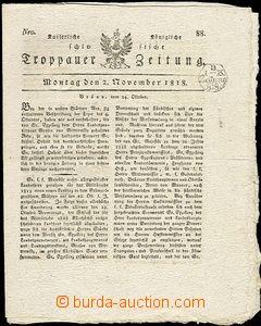 64082 - 1818 OPAVA  Troppauer Zeitung, kompletní noviny se slezskou