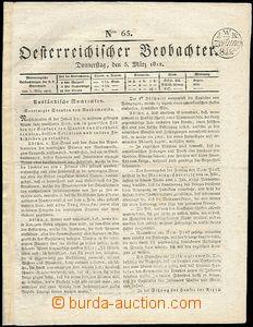 64088 - 1812 Österreichischer Beobachter, část novin, luxusní no