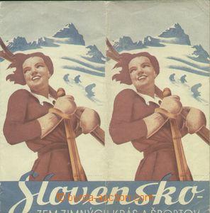 64096 - 1935 turistická brožura Slovensko - zem zimných krás a �