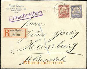 64109 - 1913 SAMOA  R dopis zaslaný do Německa, vyfr. zn. Mi.9, 10