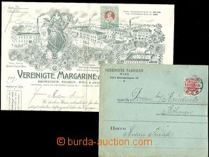 64134 - 1905 envelope incl. decorated invoice/-s firm Vereingte Marg