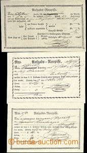64188 - 1805-68 sestava 8ks recepisů, 2x rámečkové razítko Pozo