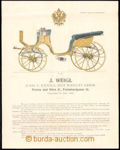 64197 - 1905 katalog firmy J. Weigl, Přerov, výroba kočárů, složeno
