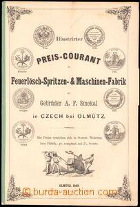 64202 - 1869 katalog hasičských stříkaček firmy bří Smekalů, Čechy p