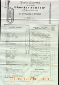 64221 - 1880 pricelist firm musical instruments Gottfried Pecher, Br