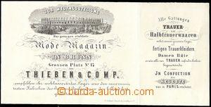 64239 - 1868 reklamní skládaný lístek, ozdobné záhlaví, firma