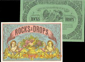 64242 - 1876 sestava 2ks reklamních lístků, cukrovinky Rocks & Drops