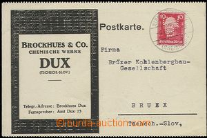 64284 - 1929 GERMANY  card with additional-printing Czechosl. chemic