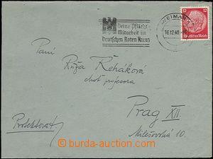 64334 - 1940 KT BUCHENWALD  dopisní obálka bez obsahu zaslaná če