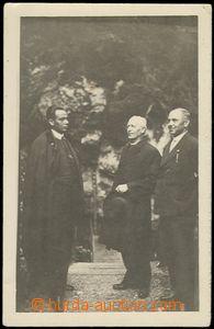 64384 - 1940 HLINKA Andrew, meeting statesmen in/at Dobšinské jesk