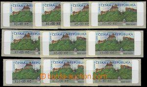 64400 - 2000 Pof.AT1 Veveří (castle), complete set 10 pcs of with