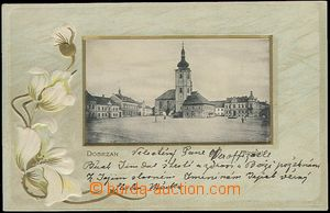 64415 - 1906 Dobřany,  embossed collage, square, Us, good condition