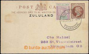 64460 - 1912 dopisnice Asch.1 s dofr. zn. SG.20, zasláno do Anglie,
