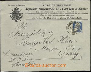 64489 - 1905 envelope with heading international exhibition in Bruss