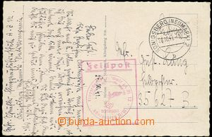 64490 - 1941 pohlednice zaslaná FP, DR Königsberg/ 28.10.41, červ