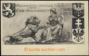 64501 - 1918 ITÁLIE  útvarová propagační pohlednice 34. pluku �