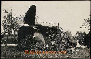 64527 - 1924 reálfoto havárie stíhacího letounu SPAD, francouzsk
