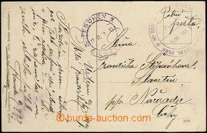 64545 - 1919 Šnejdárkovo tažení, pohlednice zaslaná PP, kulaté