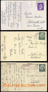64561 - 1940-42 3x postcard with postal agency pmk, 1x Wolledorf üb