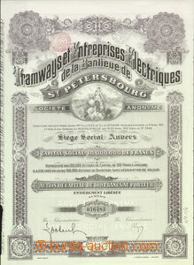 64564 - 1912 BELGIE  akcie Tramways et Entreprises Electriques de la