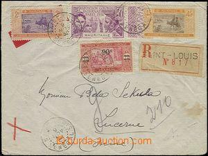 64566 - 1932 R-dopis vyfr. smíšenou frankaturou zn. Mauretanie / Sen