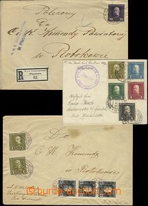 64574 - 1914-16 comp. 3 pcs of letters with FP, from that 1x as Regi
