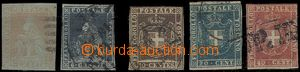 64589 - 1851-60 Mi.4, 7, 19, 20, 21, část těsný střih, kat. cca