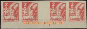 64600 - 1945 Pof.354Mv Košice-issue, unfolded horiz. 4-stamp gutter