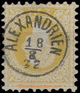 64610 - 1867 LEVANTE  Mi.1 II., celé náprstkové raz. Alexandrien