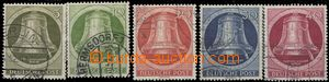 64624 - 1951 Mi.82-86 Zvony - srdce vpravo, kompl. řada, kat. 140�