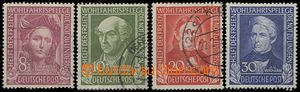 64636 - 1949 Mi.117-120, Pomocníci lidstva I, kat. 200€