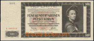 64637 - 1942 ČaM  bankovka 500K, Ba.35, znehodnoceno NEPLATNÉ; kvali