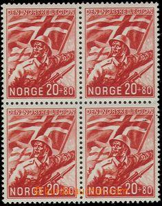64650 - 1941 Mi.236 Norský Legion, ve 4-bloku, svěží, kat. 300�