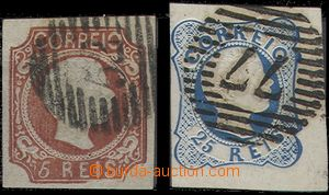 64661 - 1856 Mi.9-10, King Pedro V., imperforated, lined numeric pos
