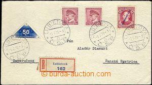 64668 - 1939 R-dopis vyfr. smíšenou frankaturou československých