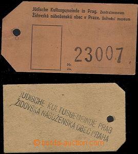 64689 - 1944 KT TEREZÍN  2ks číslovaných  visaček od zavazadel