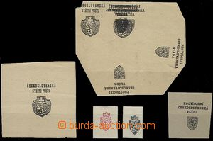 64713 - 1918 comp. 8 pcs of PLATE PROOF Prague overprint in black co