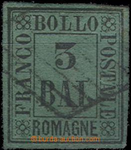 64718 - 1859 ITALY / Romagna  Mi.4 postage stmp, rest of hinge, othe
