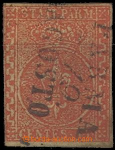 64725 - 1852 Mi.7 Znak, nepřesný střih, lehké řádkové razítk