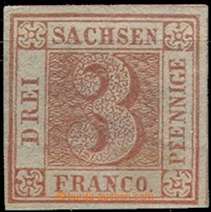64728 - 1850 SACHSEN (SAXONIA)  forgery of stamp Mi.1, marked
