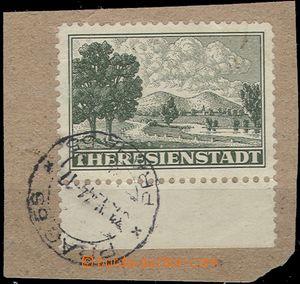 64731 - 1944 Pof.Pr1A s dolním okrajem na výstřižku s DR Praha 6