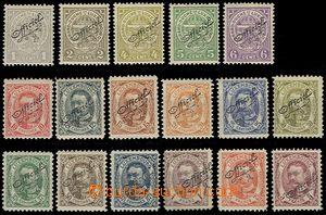 64732 - 1908 Mi.76-92, Official with overprint Officiel,  c.v.. 160�