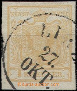 64736 - 1850 Mi.1, I.emise, typ I.a, HP, hnědooranžová - hezký odstí