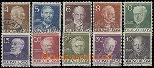 64747 - 1952 Mi.91-100 Osobnosti, komplet. série, kat. 60€