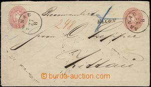 64751 - 1865 postal stationery cover Mi.U33, margins II., with wmk,